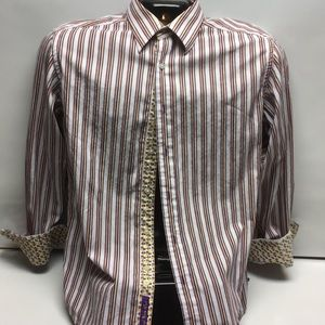 Mens Robert Graham Plaid Long Sleeve Medium Shirt